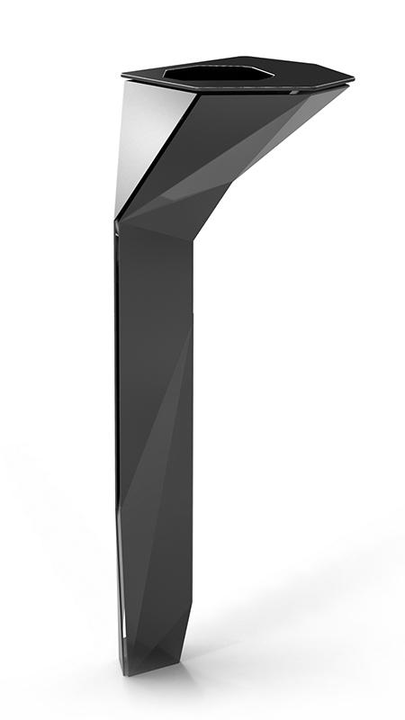 cendrier franck magné objets public design mobilier urbain cendrier à sable