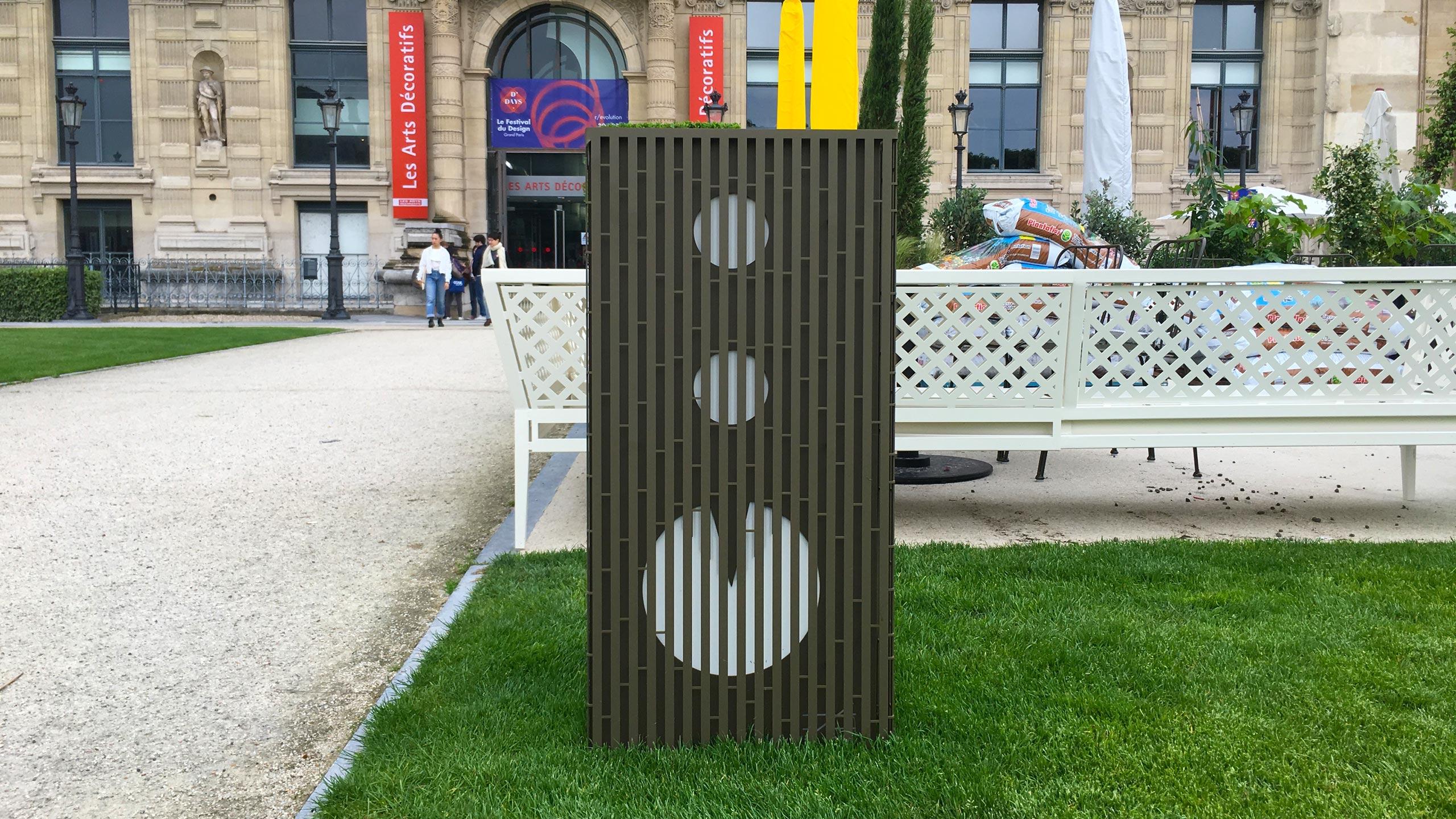 Animation corbeille tri sélectif animation objets publics franck magné design poubelle