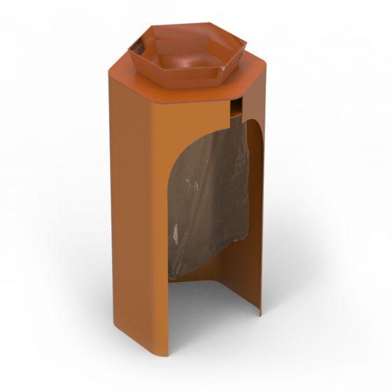 objets publics corbeille hexa mobilier urbain poubelle publique design franck magné