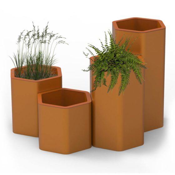 objets publics bac à végétaux jardiniere design franck magné