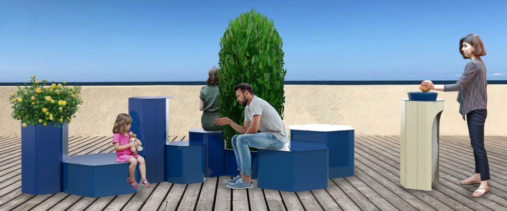 hexa mobilier urbain design banc public design francs magné objetspublics