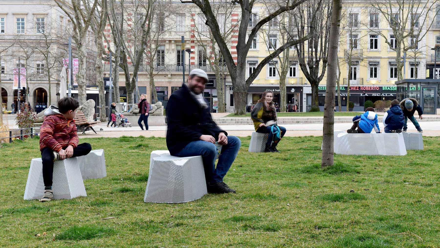 assises rocs mobilier urbain design banc public design francs magné
