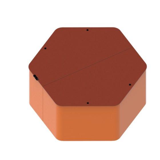 Objets publics Hexa XL système de mobilier urbain design