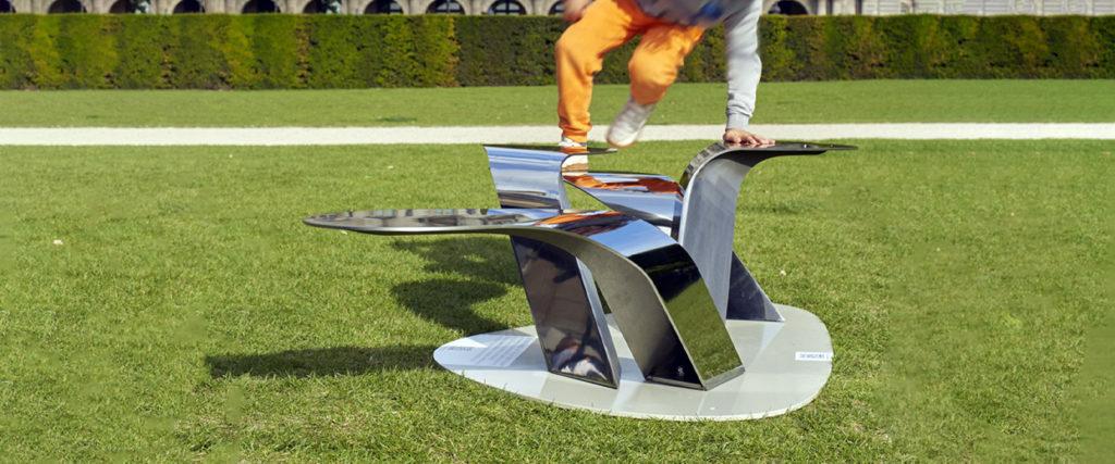 les herbes folles mobilier urbain design banc public design francs magné objetspublics