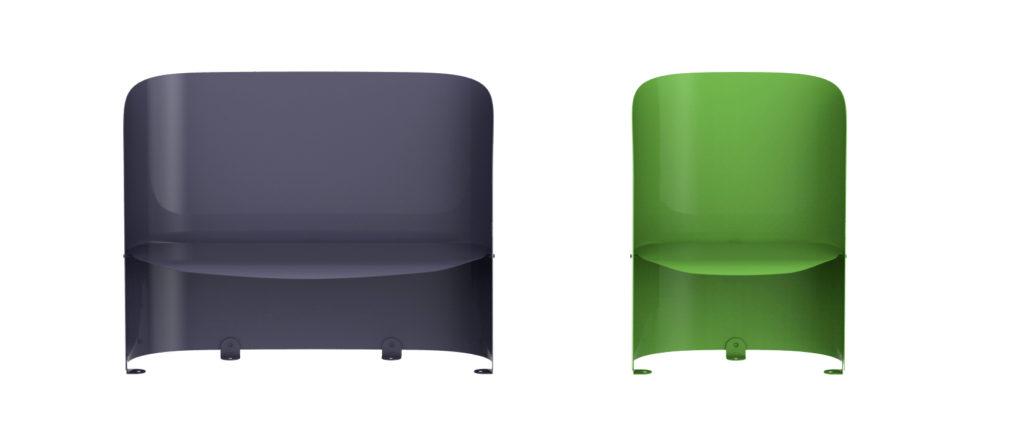 Assises à Alcove 1 et 2 places mobilier urbain design banc public design francs magné objetspublicsdesign banc public design francs magné objetspublics
