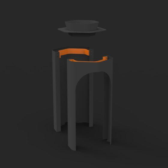 corbeille Hexa objetspublis poubelle design design urbain
