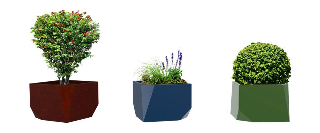 Objets publics bac à végétaux Roche jardinière bac à plantes
