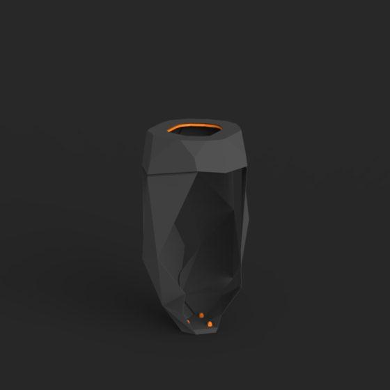 corbeille froissé mobilier urbain design poubelle public design francs magné objetspublics