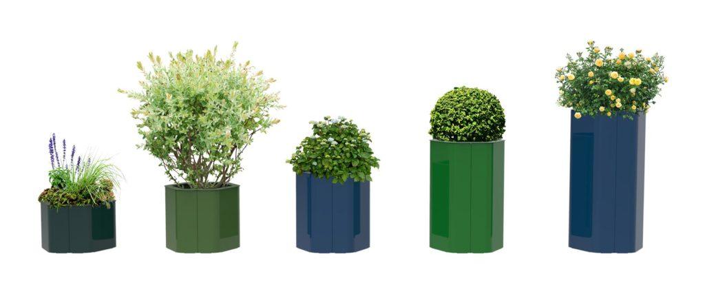 bac à végétaux hexa m objetspublics design urbain mobilier jardinière