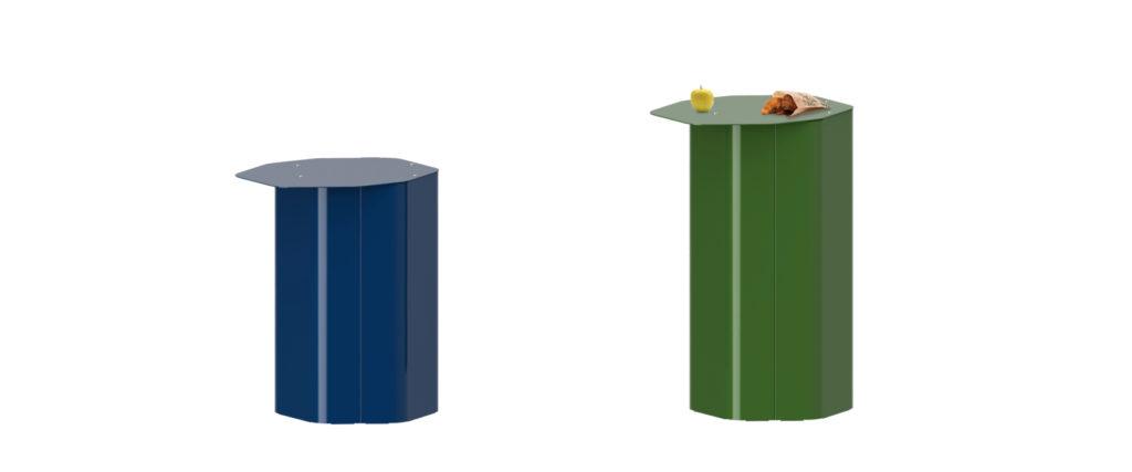 tablette hexa mobilier urbain design Table design francs magné objetspublics