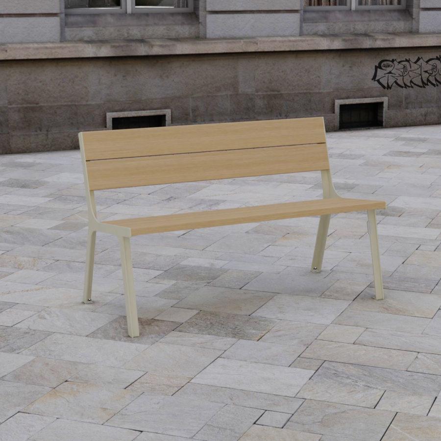 banc cité bois objets publics design