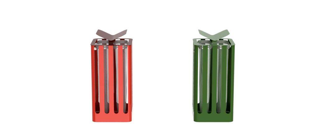corbeille Cité Z Zéro 46x46 mobilier urbain design poubelle design francs magné objetspublicsdesign banc public design francs magné objetspublics
