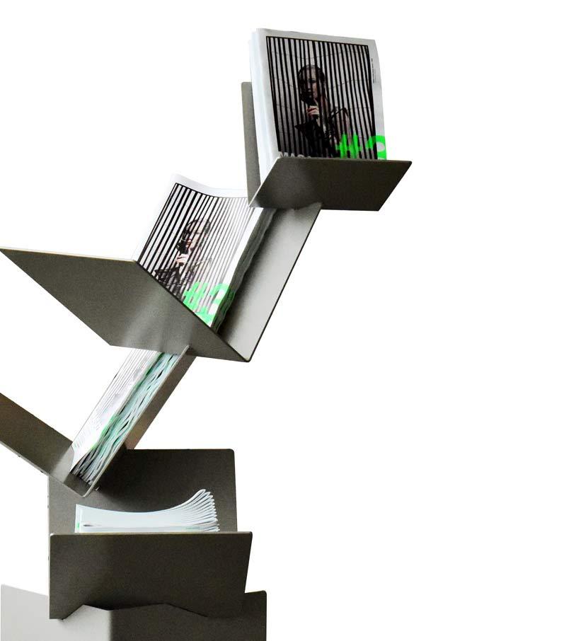 objets publics a livre ouvert cité de la mode et du design franck magné porte revues mobilier d'accueil présentoir