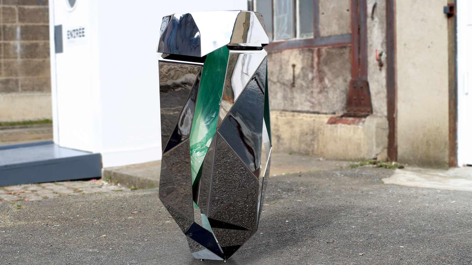 objets publics corbeille froissé poubelle ville design franck magné