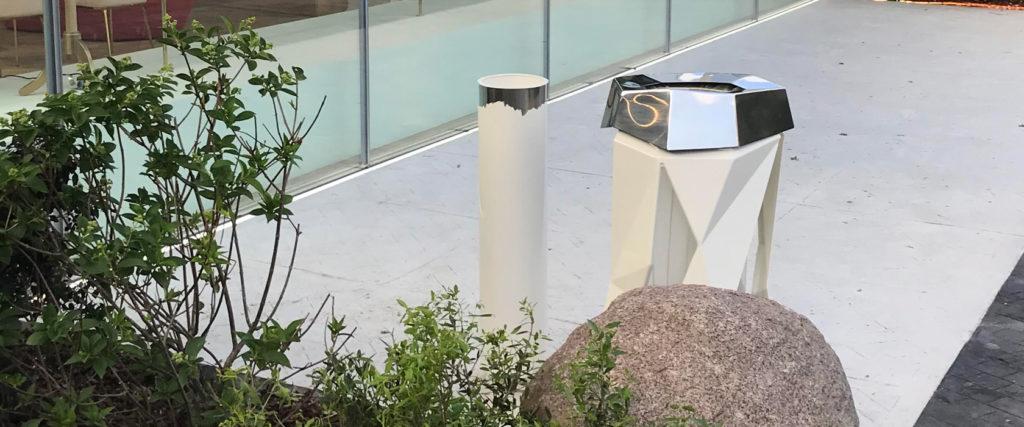 cendrier feu corbeille froisse mobilier urbain design banc public design francs magné objetspublics