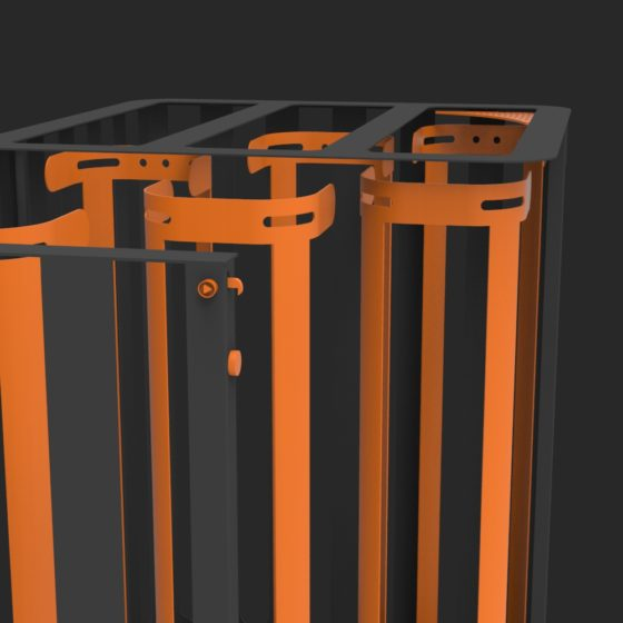 corbeille Cité Z Zéro 60x60 3 flux Vigipirate mobilier urbain design poubelle design francs magné objetspublicsdesign banc public design francs magné objetspublics