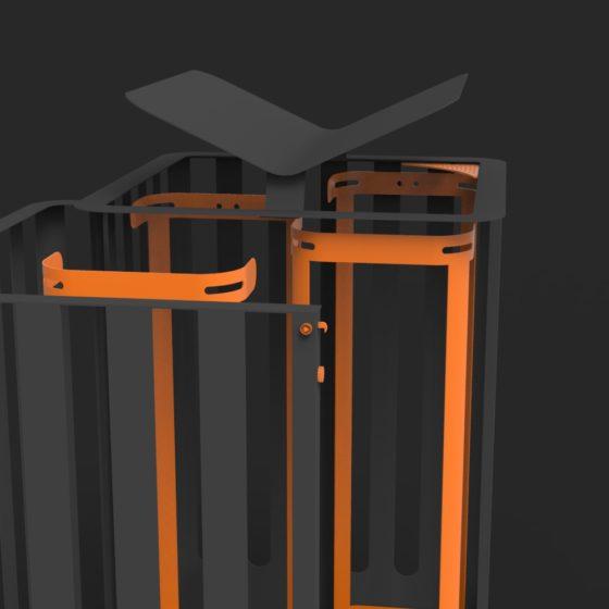 corbeille Cité Z Zéro 60x60 mobilier urbain design poubelle design francs magné objetspublicsdesign banc public design francs magné objetspublics