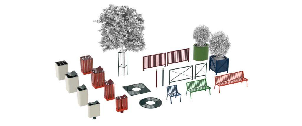 Collection Cité mobilier urbain design francs magné objetspublics