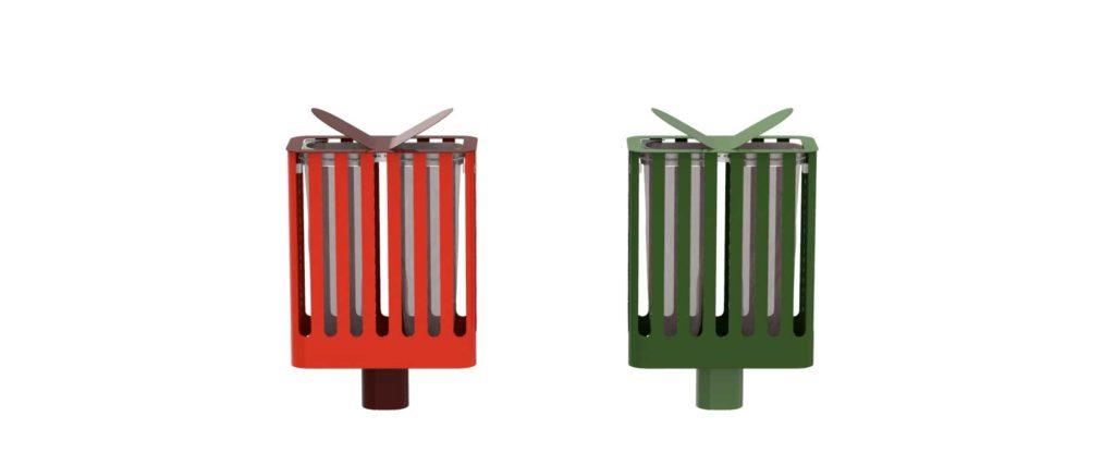 corbeille Cité Z Zéro 28x58 mobilier urbain design poubelle design francs magné objetspublicsdesign banc public design francs magné objetspublics