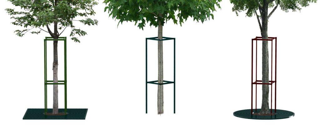 Corset d'arbre mobilier urbain design poubelle design francs magné objetspublics design public design francs magné objetspublics