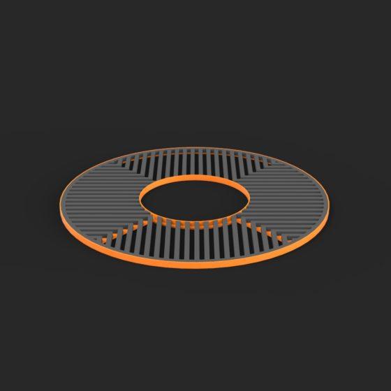 Grille d'arbre ronde mobilier urbain design poubelle design francs magné objetspublics design public design francs magné objetspublics